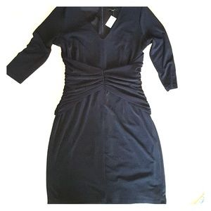 Comfy and slimming black dress sz 12